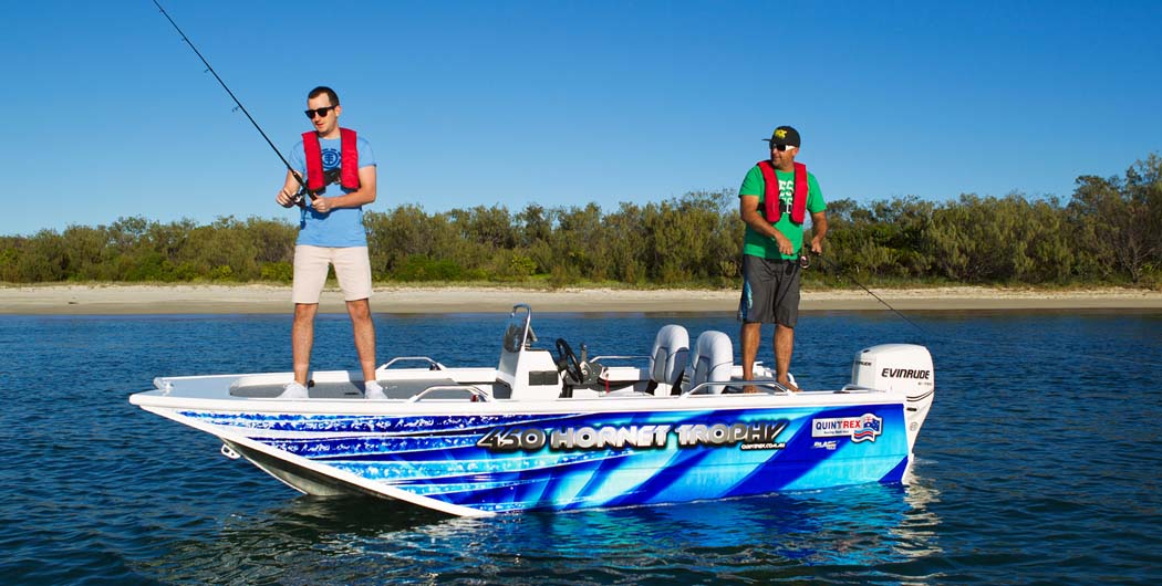 GET SET FOR SERIOUS FISHING IN QUINTREX'S F450 HORNET